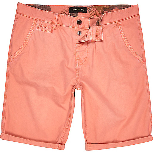 Pale red chino shorts