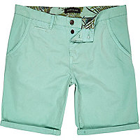 Light green chino shorts