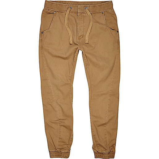 Light brown slim joggers