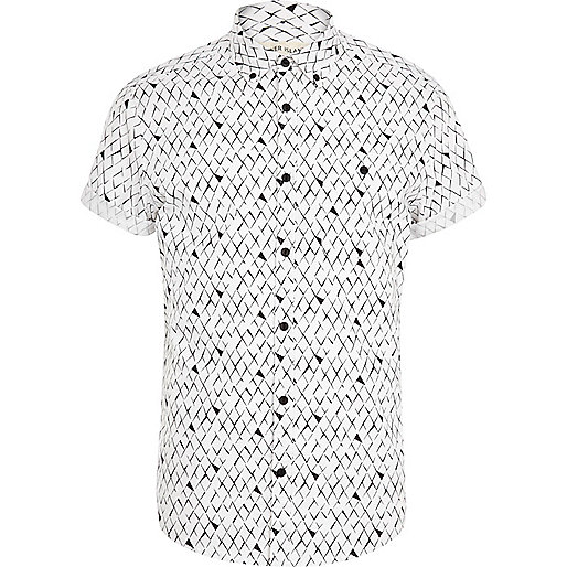 Black and white scale print shirt