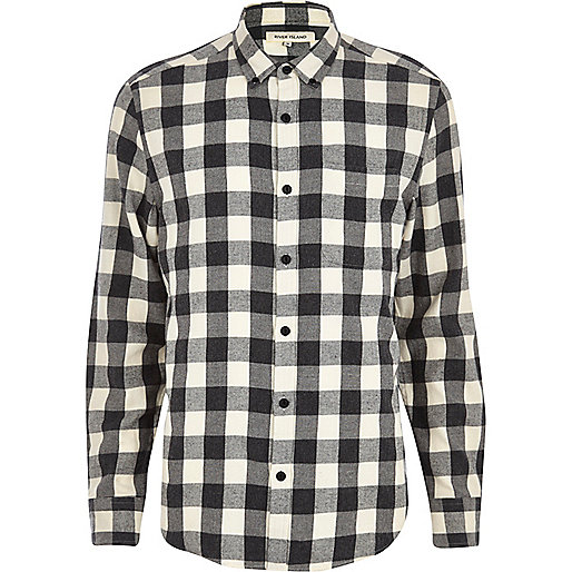 Grey buffalo check shirt
