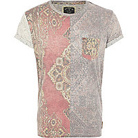 Pink Holloway Road tapestry print t-shirt