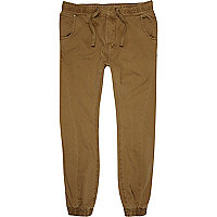 Brown slim joggers
