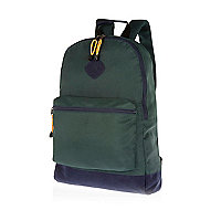 Dark green two-tone rucksack
