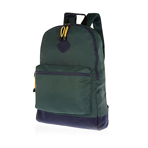 Dark green two-tone backpack