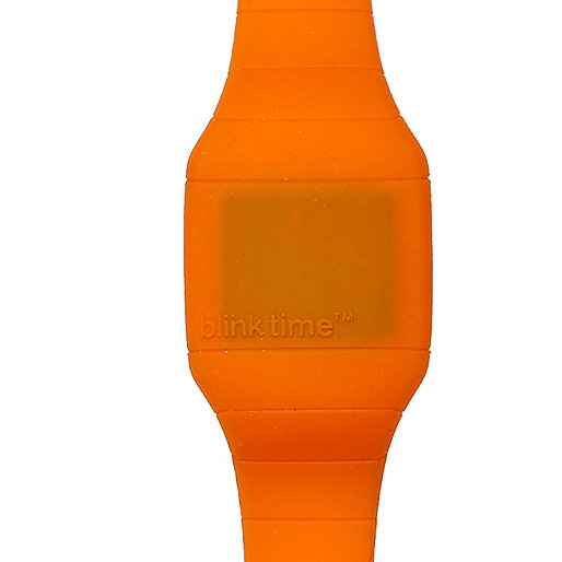 Bright orange Blink Time watch