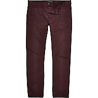Burgundy slim chinos