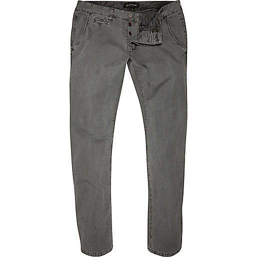 Grey slim chinos