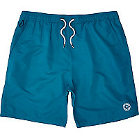 Teal mid length swim shorts