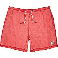 Red short swim shorts