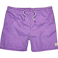 Purple short swim shorts
