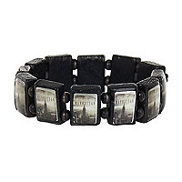 Black Manhattan tile bracelet