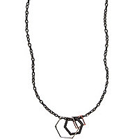 Gunmetal hexagon neck chain