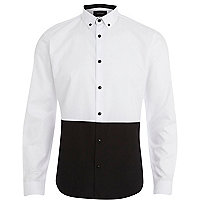 Black and white two tone shirt