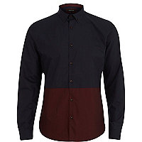 Navy and red two tone shirt