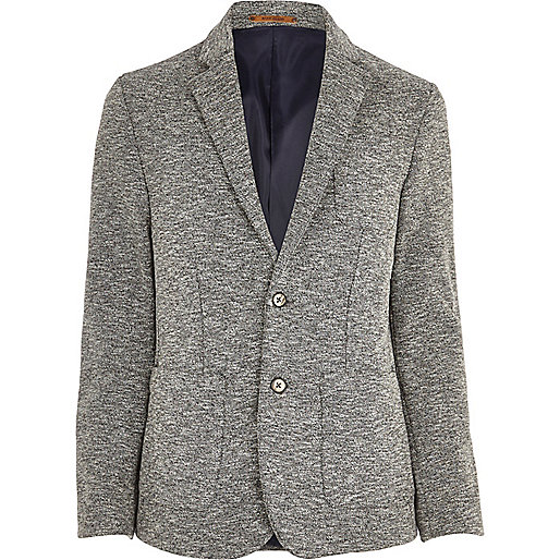 Grey neppy slim blazer