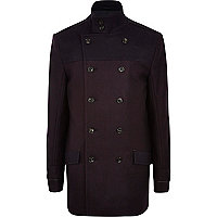 Navy two-tone smart coat