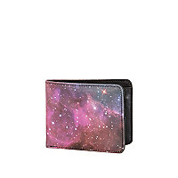 Black cosmic print wallet