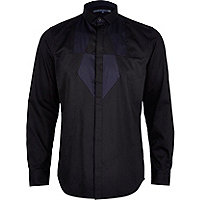 Black Life of Tailor panelled shirt