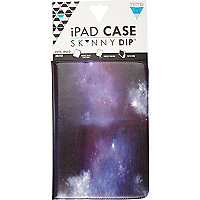Purple Skinnydip cosmic print iPad mini case