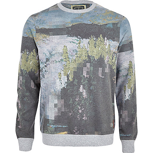 Blue Holloway Road abstract print sweatshirt