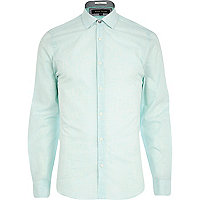 Mint green long sleeve shirt