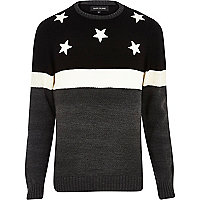 Grey stars and stripes jumper
