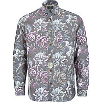 Purple Holloway Road floral print shirt