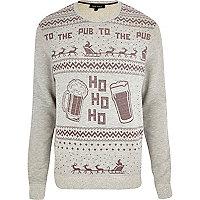 Grey ho ho ho print Christmas sweatshirt