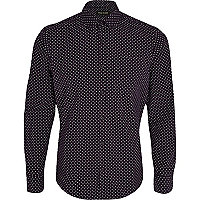 Purple polka dot shirt