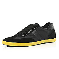Black contrast sole trainers