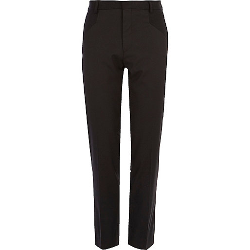 Black Life of Tailor panelled suit trousers