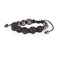 Black encrusted bead bracelet