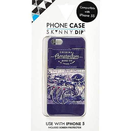 Blue SkinnyDip Amsterdam print iPhone 5 case