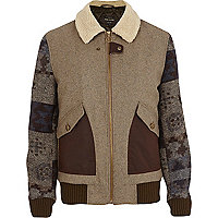 Light brown patterned sleeve jacket