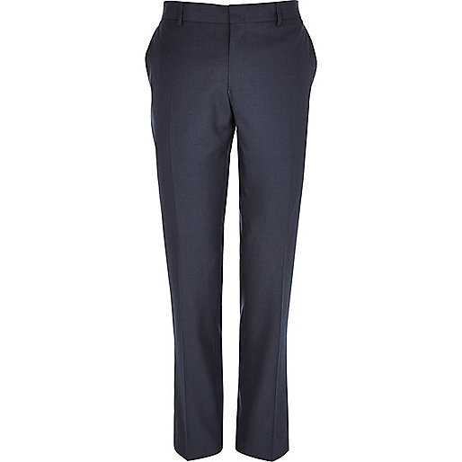 Blue slim smart trousers