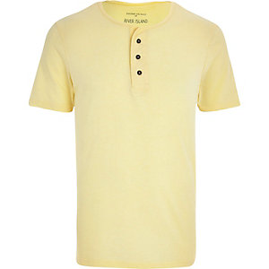 Yellow grandad t-shirt