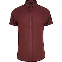 Dark red short sleeve shirt
