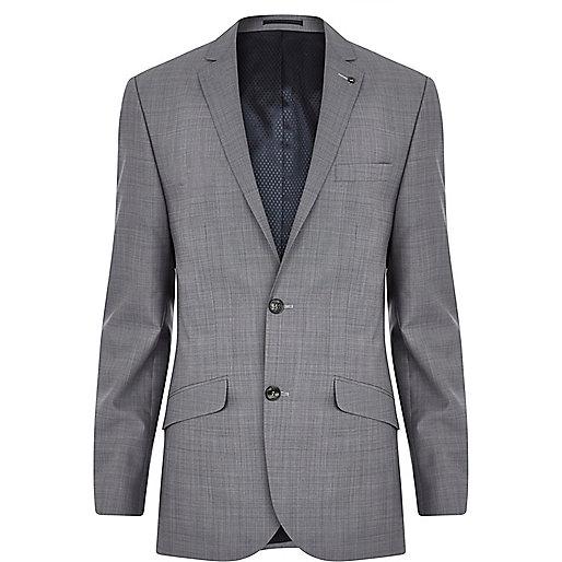 Grey slim suit jacket