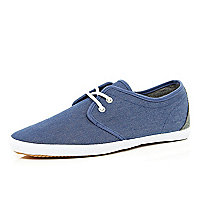 Light blue denim plimsolls