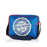 Blue American Freshman flight bag