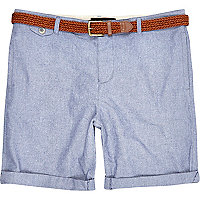 Light blue turn up shorts