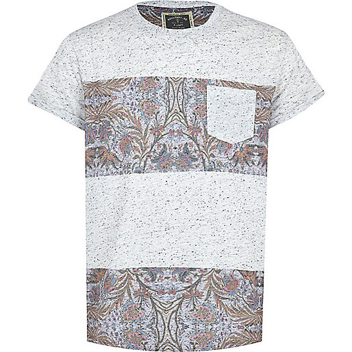 Grey Holloway Road floral sliced t-shirt