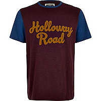 Dark red Holloway Road t-shirt