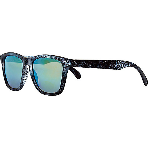 Black marble retro sunglasses