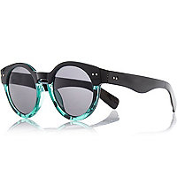 Black ombre round sunglasses
