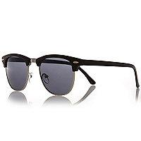 Black half frame sunglasses
