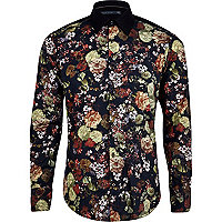 Black Life of Tailor floral long sleeve shirt