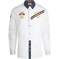 White Autoprix long sleeve shirt