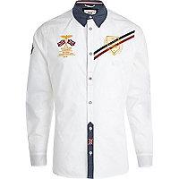 White Autoprix long sleeve shirt